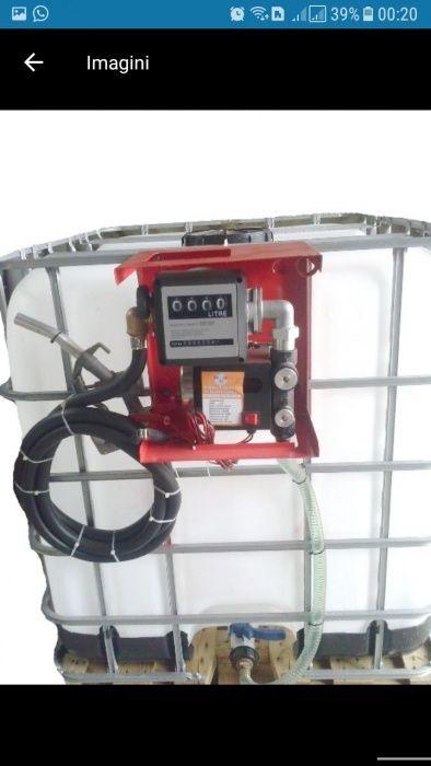 Bazin rezervor ibc motorina 1000 litri cu pompa 220v sau 12v