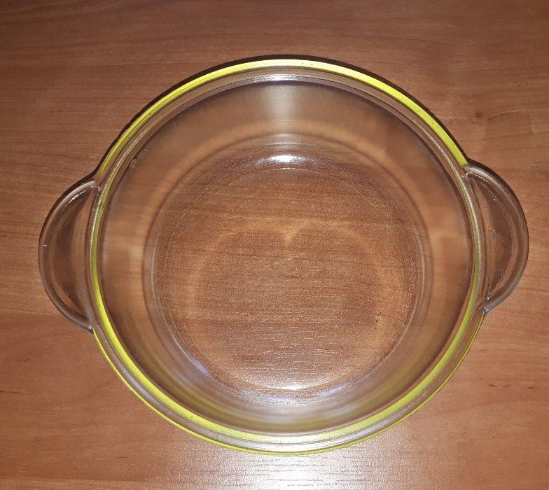 Чашка с крышкой из термостекла советская новая