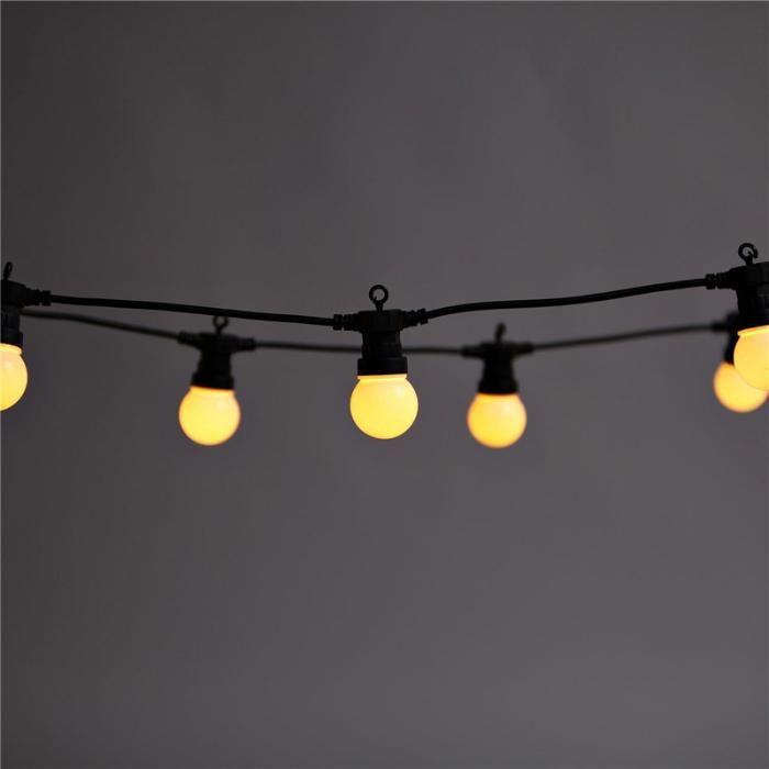 Ghirlande Luminoase 10M 20 LEDuri Mate, Conectabile 30m, de Exterior