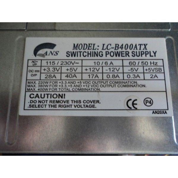sursa switching power supply model: lc-b400atx 230 v