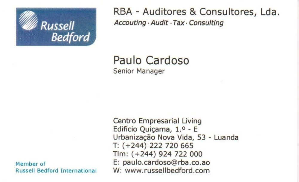 Prestamos serviços de Auditoria, Contabilidade e Fiscalidade