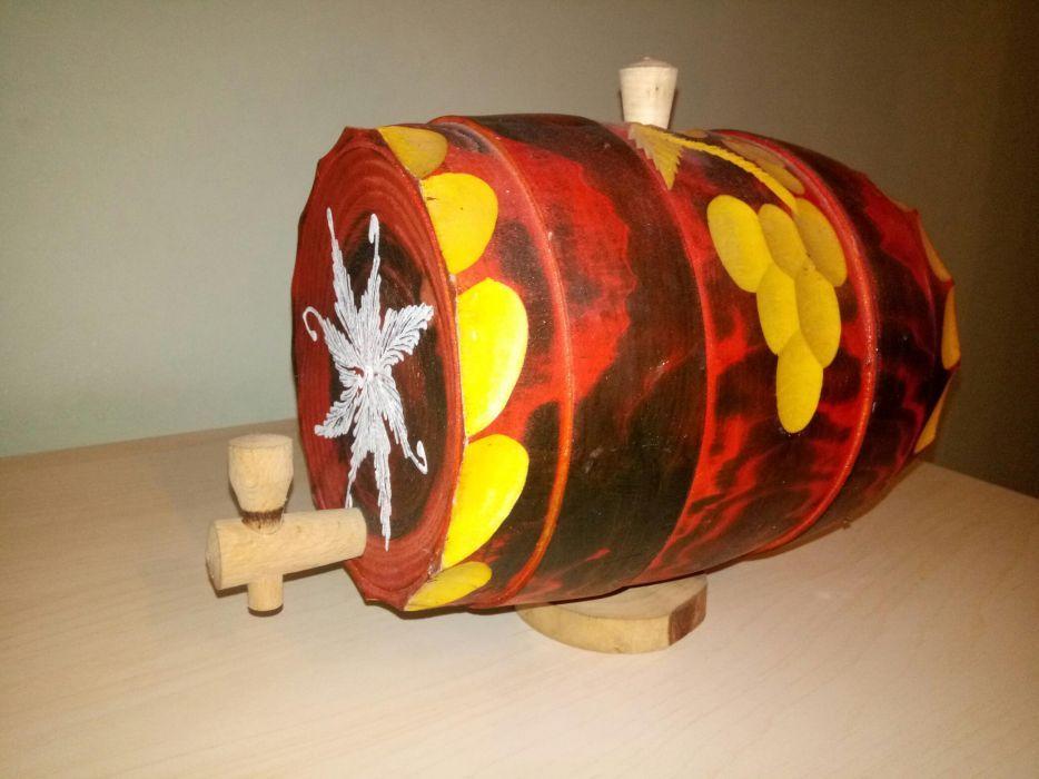 Butoi artizanal lemn decorativ