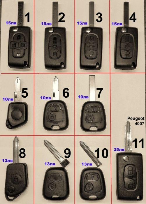 Ключ кутийка дистанционно за Пежо Peugeot гр. Варна - image 1