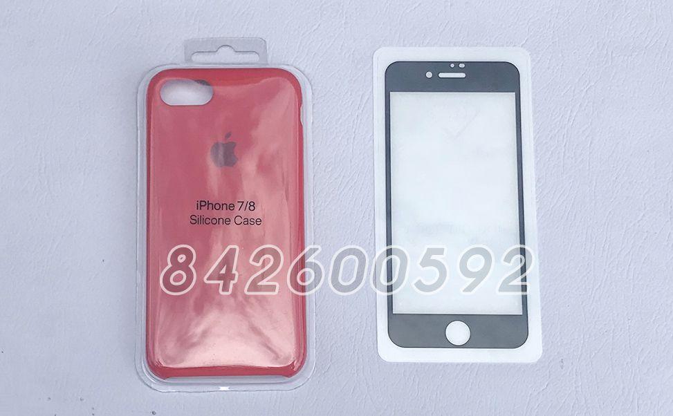 Protector 5D e Capa de Silicone Para Iphone 7 /8