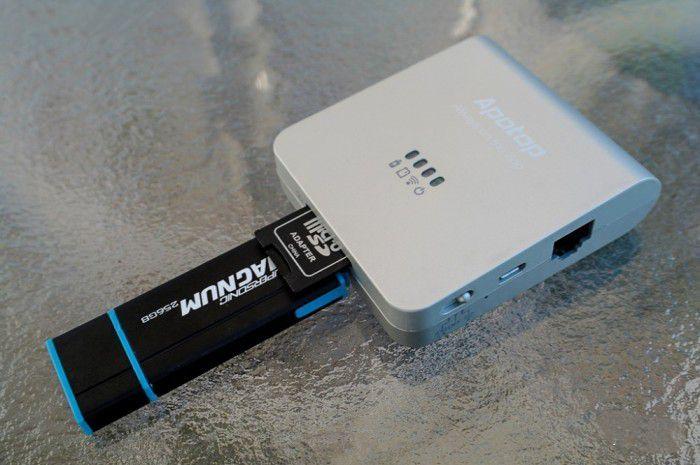 Wireless router + Wi-Fi Card reader + Power bank - APOTOP PRO DW17