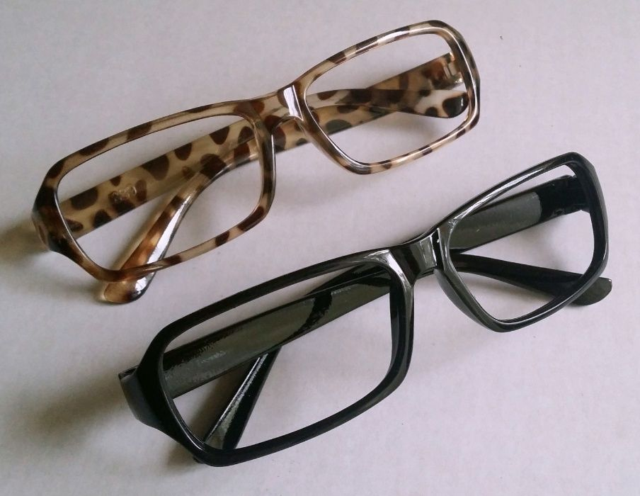 Ochelari fara lentile, de club, moderni - negrii sau tigrati