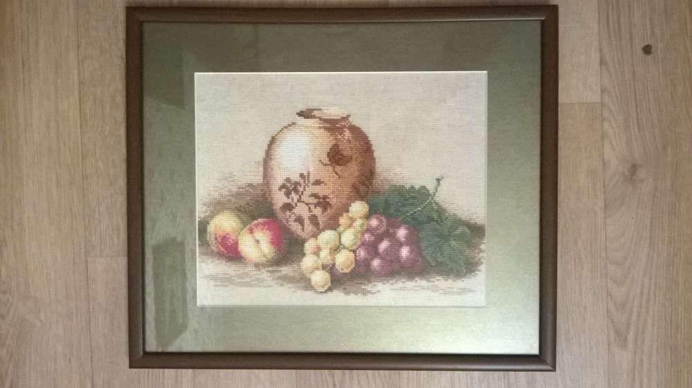 """Вышитая крестиком картина """"Натюрморт"""" - отличный подарок!"""