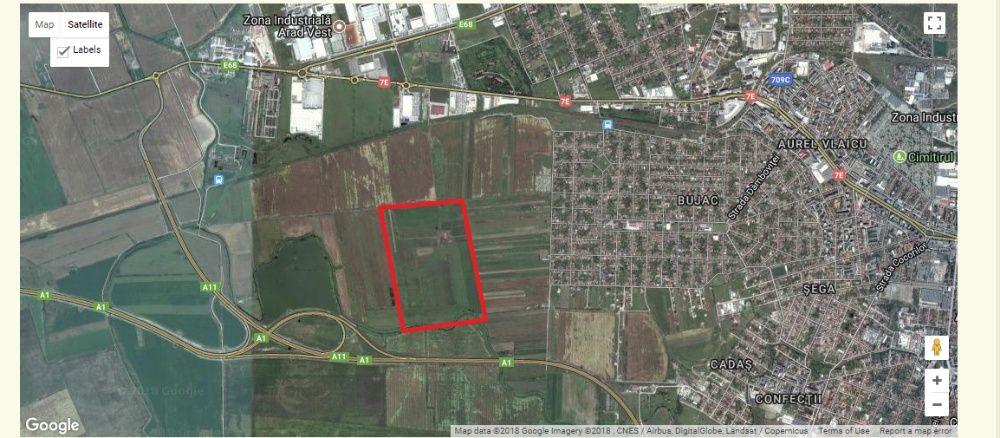 Vand 40 Ha teren in municipiul arad/caut investitor imobiliar