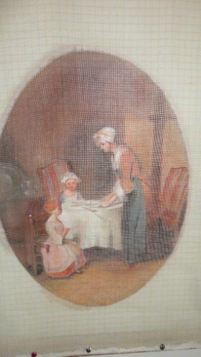 goblen pictat pentru cusut_Le benidicite_JB Chardin