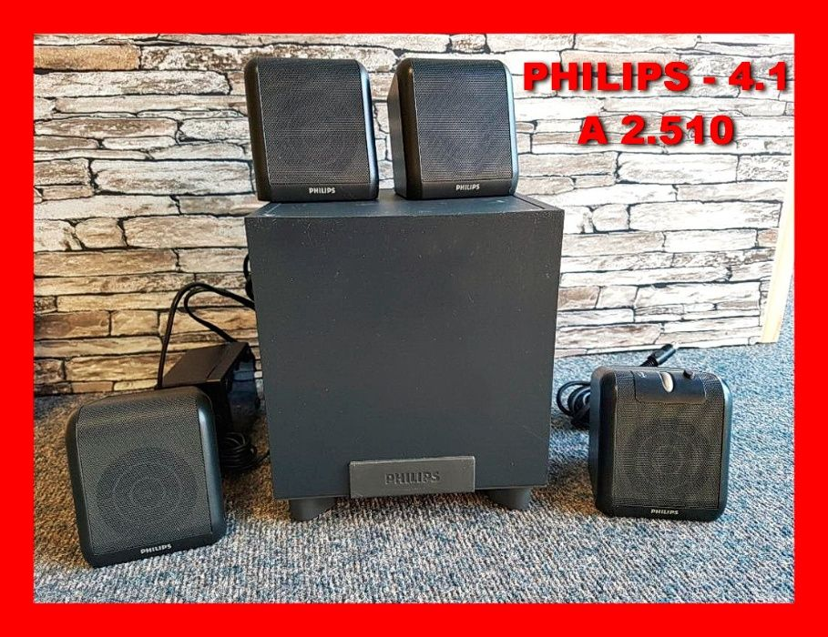 Sistem audio 4.1 Philips boxe subwoofer difuzoare sateliti