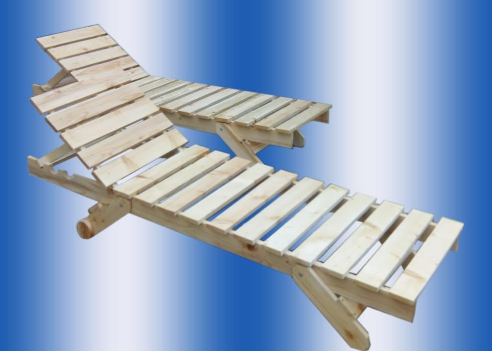 Sezlong plaja lemn
