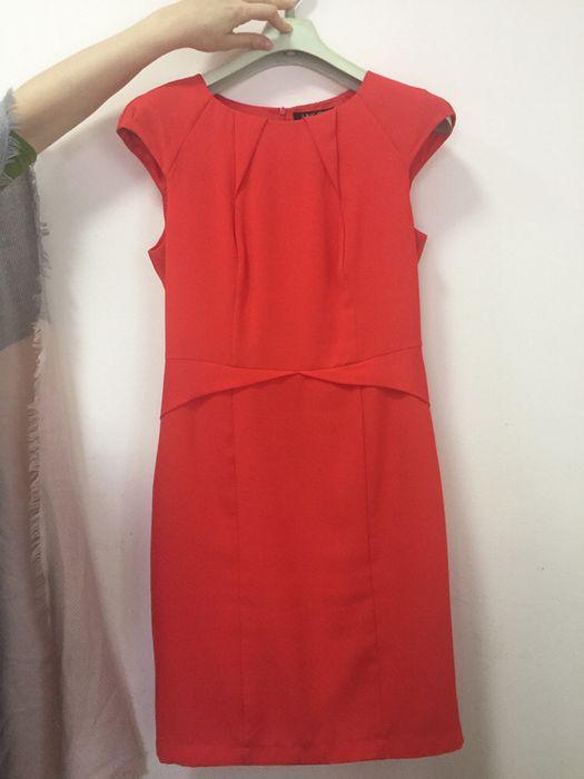 Коралловое и красное Платье , 46-48 размер