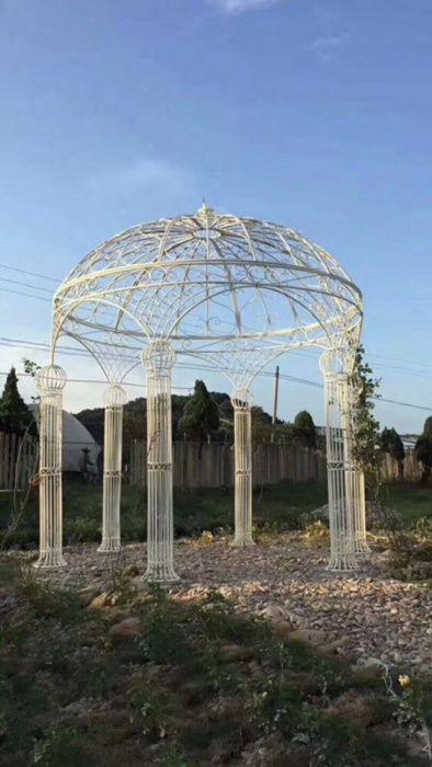 Cort metal cupola evenimente 3,5m inaltime 2,5 m latime fier alb
