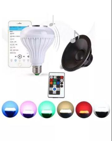 Bec LED Bluetooth si Difuzor 12W + Telecomanda pt iPhone / Samsung NOU