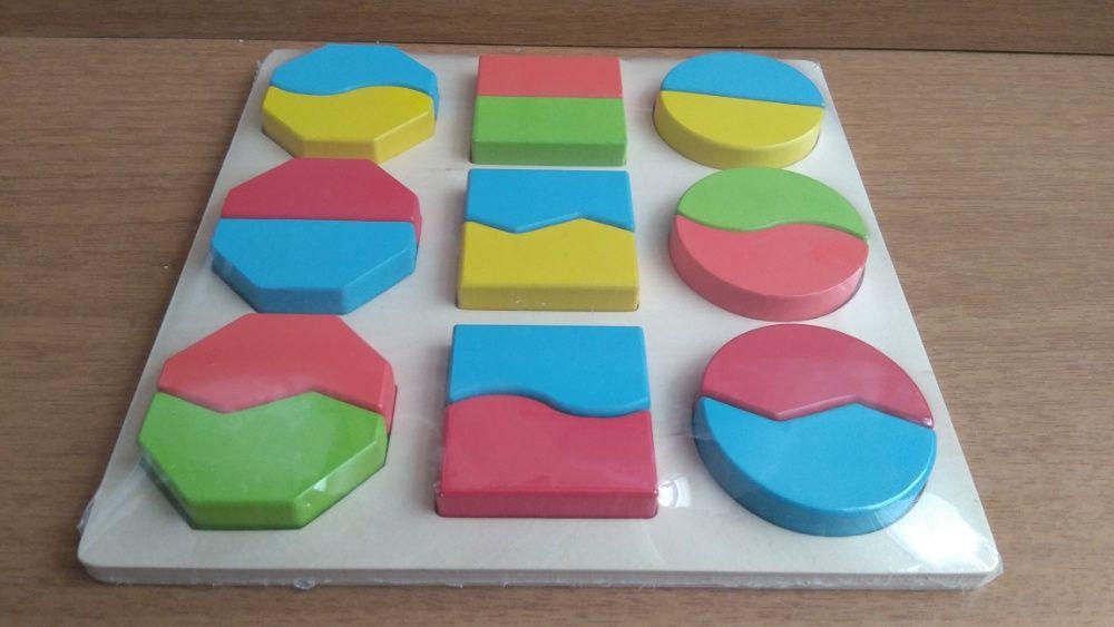 Геометрични Кръгове И Квадрати Логически Фигури 18бр. Монтесори игри