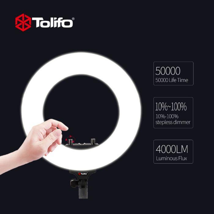 Lampa circulara bicolora Tolifo R40B, 40W foto portret, moda, cosmetic