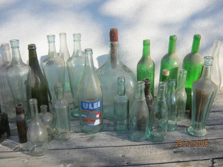 Sticle vechi colectie - 80 buc.