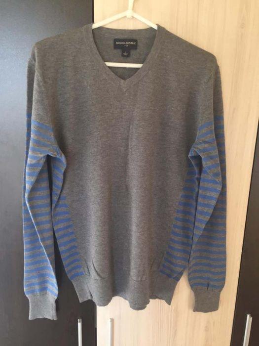 Пуловер Памучен Блуза Размер S Сив Мъжки Banana Republic