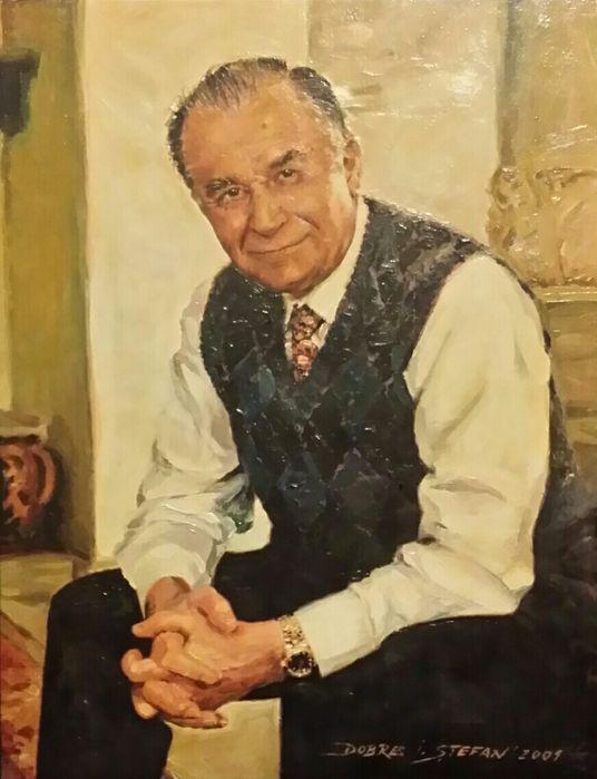 Tablou Pictura in ulei - Portretul Presedintelui ION ILIESCU Bucuresti - imagine 3