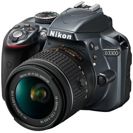 Aparat foto DSLR Nikon D3300 + card memorie si geanta