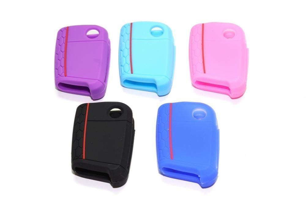Husa silicon GOLF 7/Jetta model B diverse culori pt cheie 3 butoane