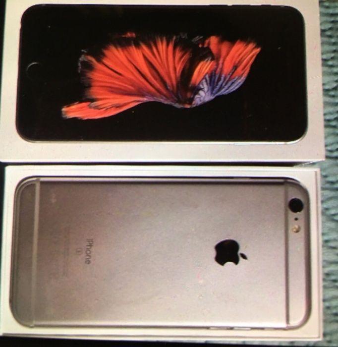 Продавам гсм iPhone 6s , 128 GB, silver със зарядно, слушалки и кутия