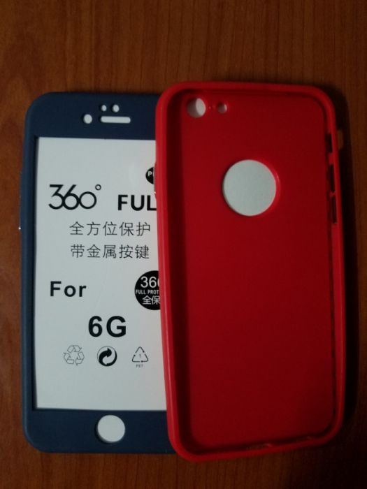 Capas iPhone 6/6s 100% de borracha embutida, proteção total