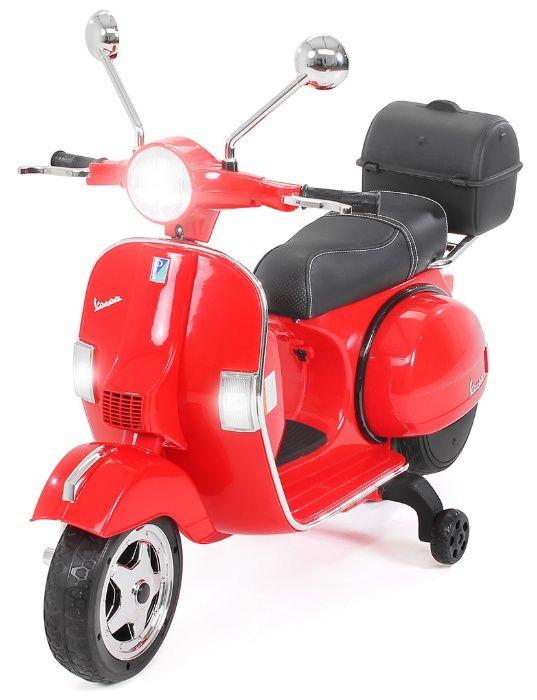 Motoretă pentru Copii, Vespa , PX150 ,12 V 7 ap, 1 Loc