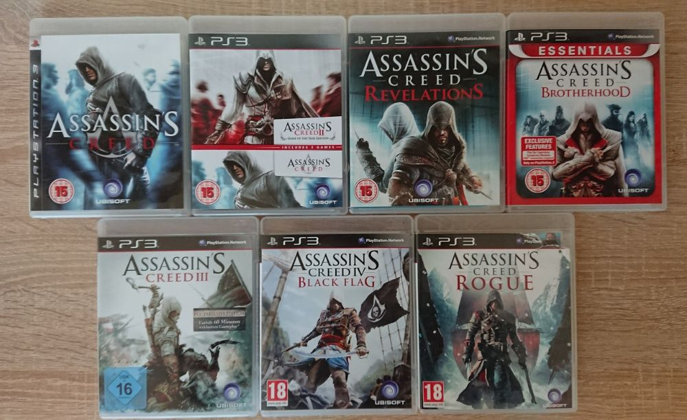 < PS3 > Assassin's Creed 3 / Black Flag / Rogue за PlayStation 3
