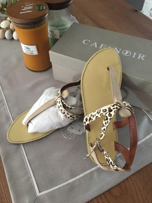 Sandale piele joase Cafe Noir, mar. 39, leopard, animal print, ponei