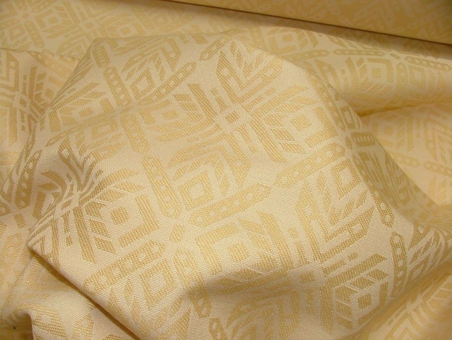 Metraj material superb cream gold :draperie