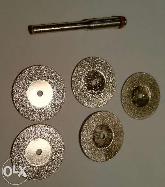 Диамантени дискове Ф20 за рязане комплект 5бр+накрайник Dremel Дремел