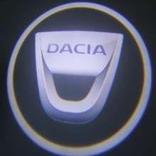 Proiector laser cu logo 3D/marca Dacia pentru iluminat sub usa