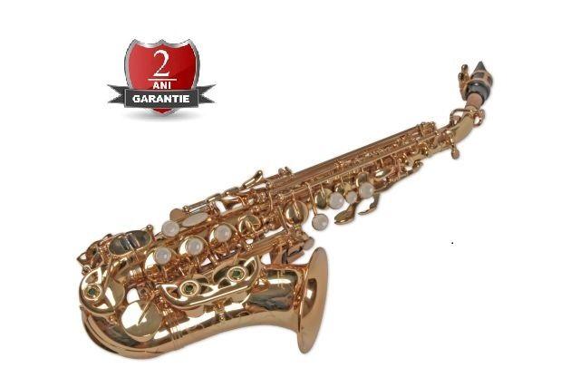 Saxofon Sopran curbat Karl Glaser AURIU NOU Sopranina Si bemol Sax