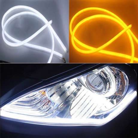 Гибкие дхо+поворот светодиодная лента белый/жёлтый