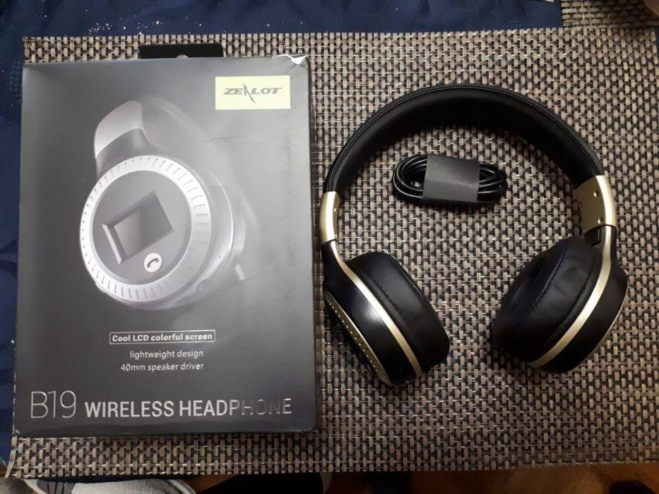 Bluetooth Безжична Слушалка Светодиоден дисплей с микрофон FM TF карта