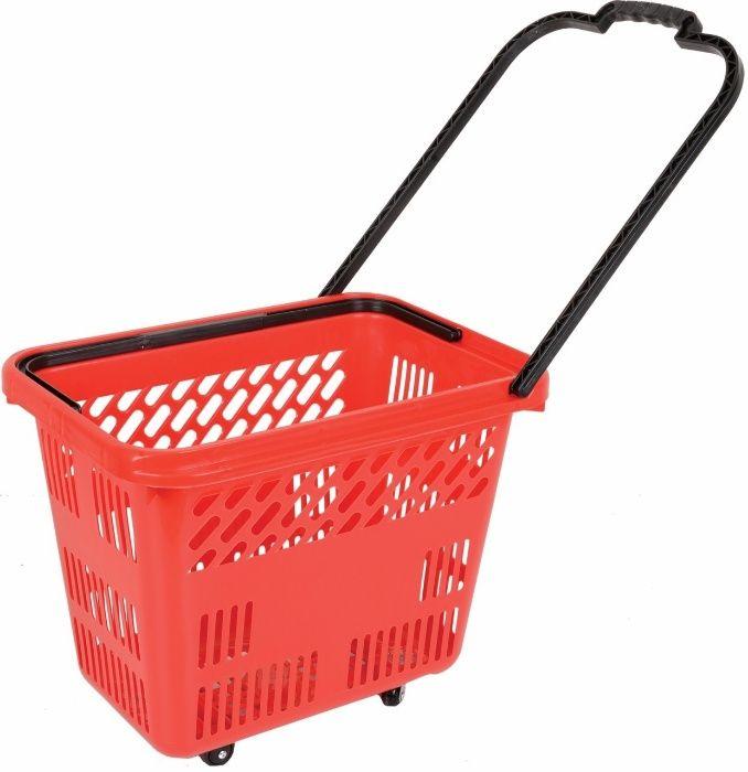 Пластмасова пазарска кошница с колела - 54 л.
