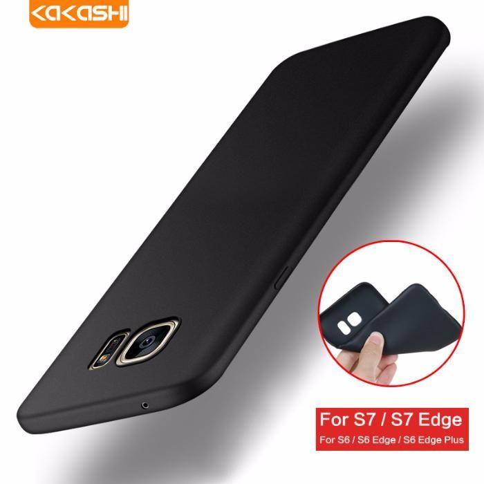 Husa Slim Din Silicon Culoare Neagra - Samsung S6 S6 Edge S7 S7 Edge
