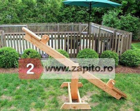 balansoar copii din lemn pentru gradina