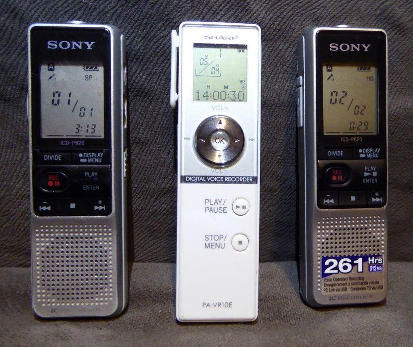 Reportofon Digital Sony si Sharp