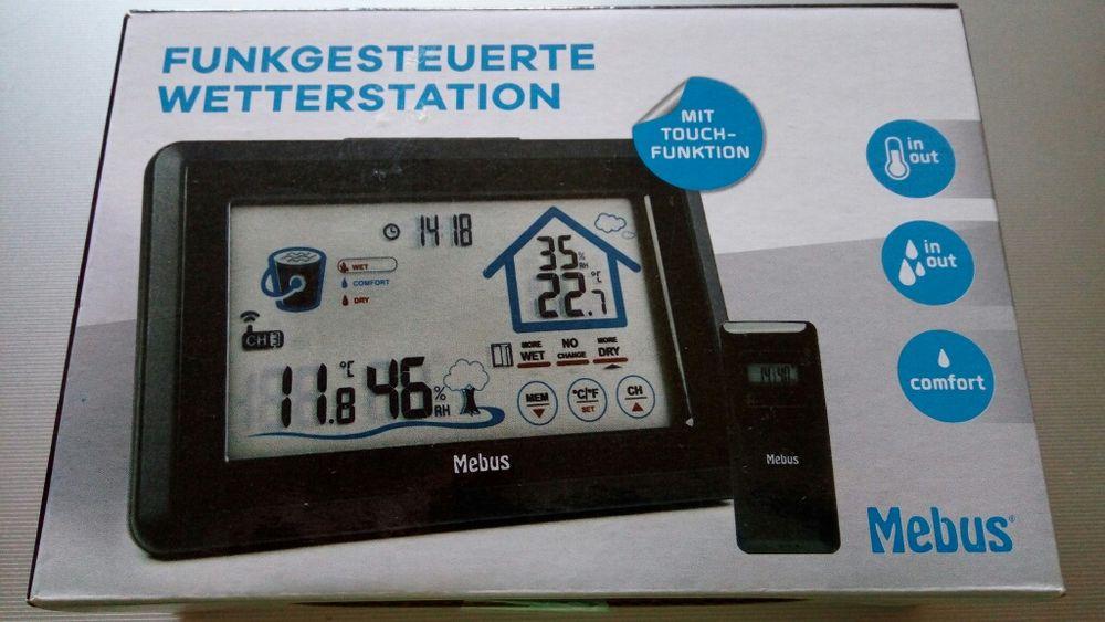 Statie meteo Mebus Germania digitala touchpanel Led 3 senzori wireless
