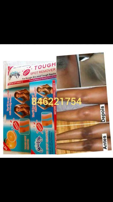 Creme para remover manchas resistentes nas axilas, joelhos etc