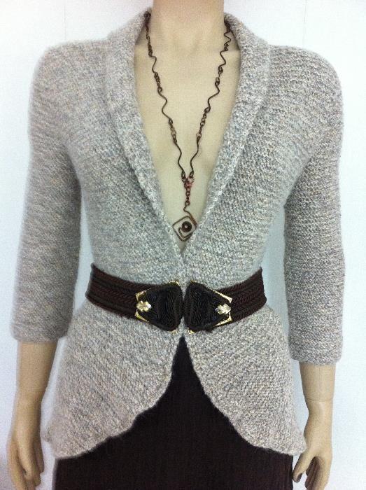 Cardigan (Pulover, jacheta) deschis in fata- (unicat handmade)