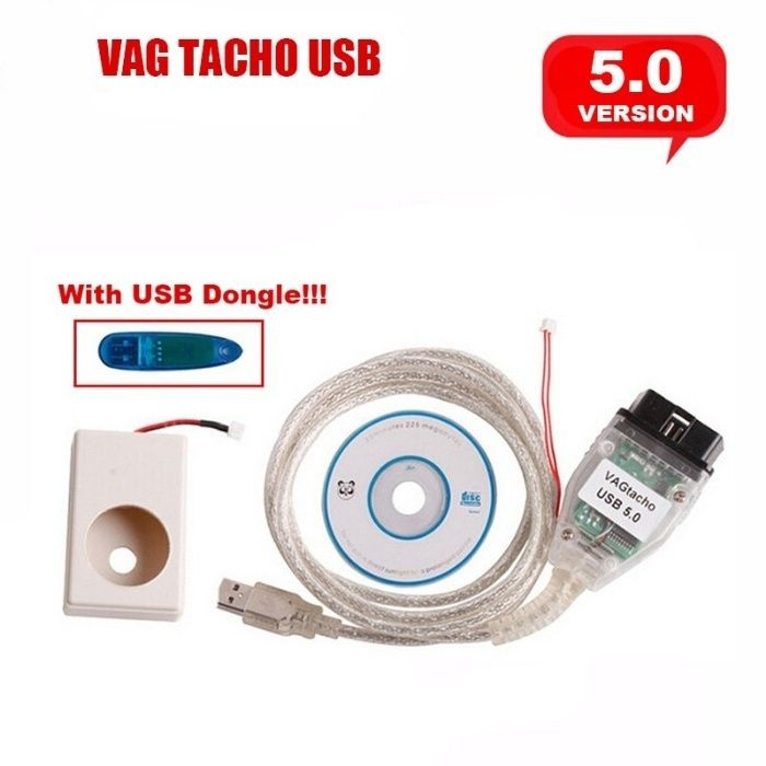 Vag Tacho 5.0 +USB Tester programare chei / modificare km / Cod Pin VW
