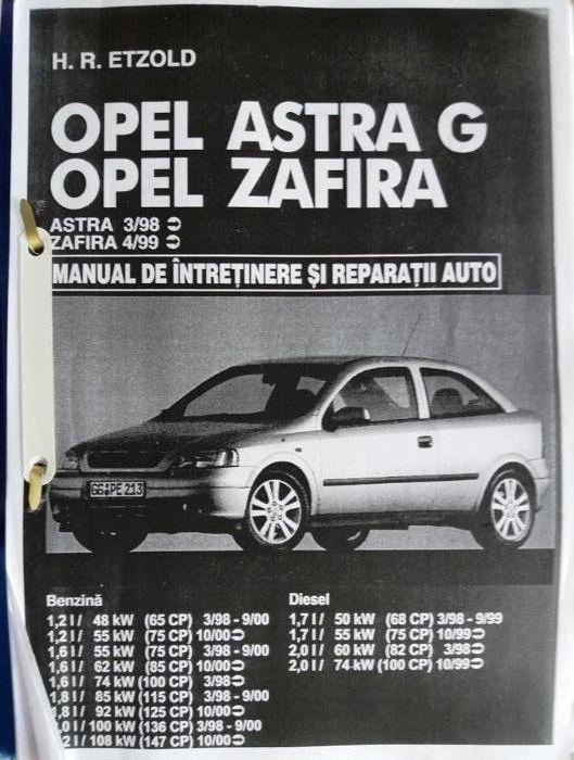 Manual reparatii opel astra zafira PDF