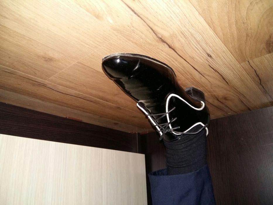 Pantofi de piele Pantoful Galben