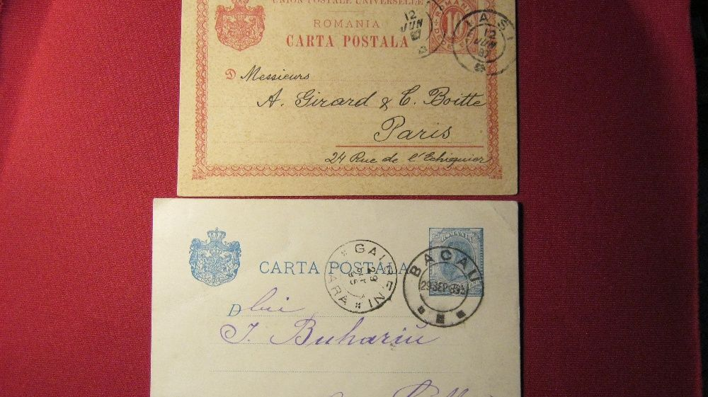 Carte postala,lot 2 bucati,inainte de 1900.