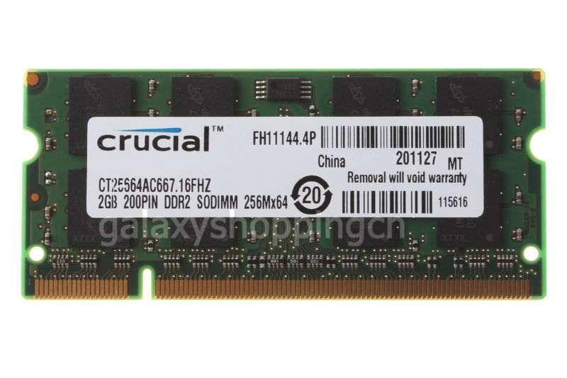 Memoria Ram 2GB 200PIN DDR2 SODIMM 256MX64 PC2 5300