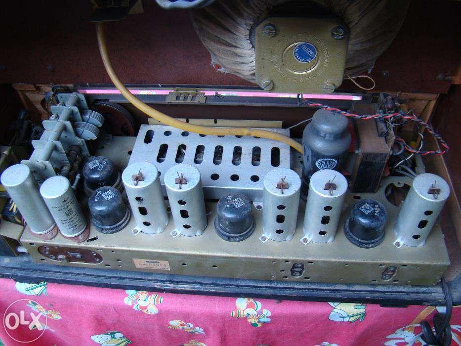 RARITATE !!! Radio Grundig pe lampi (Ansbach 38W), an1950