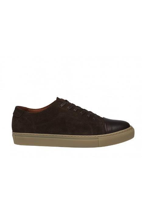 Ocazie!!! GARMENT PROJECT dark brown suede sneakers 100% piele